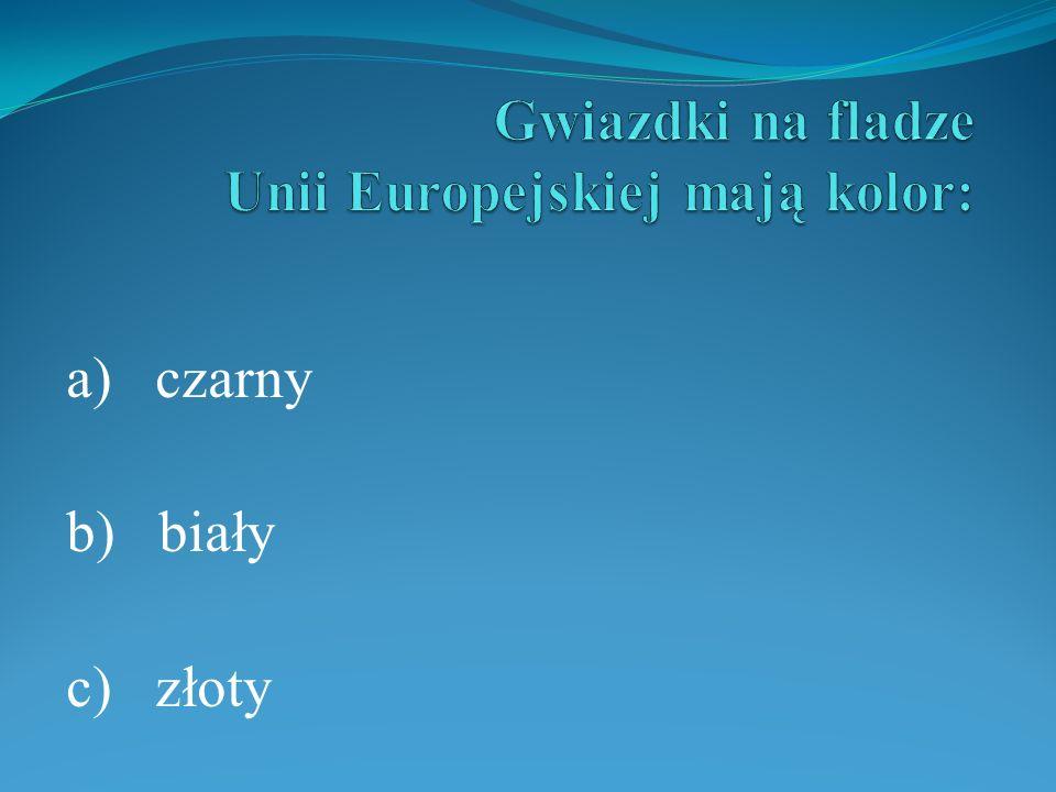 Gwiazdki na fladze Unii Europejskiej mają kolor: