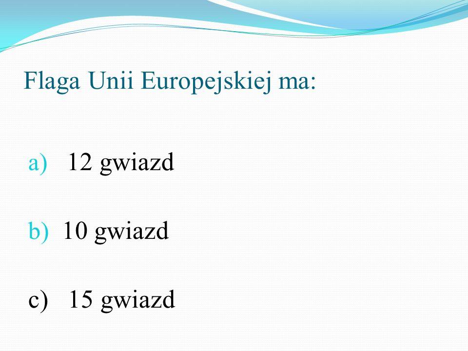 Flaga Unii Europejskiej ma: