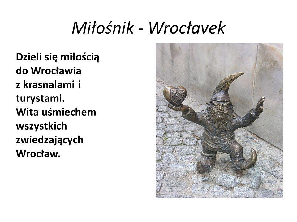 Miłośnik - Wrocłavek Dzieli się miłością do Wrocławia z krasnalami i turystami.
