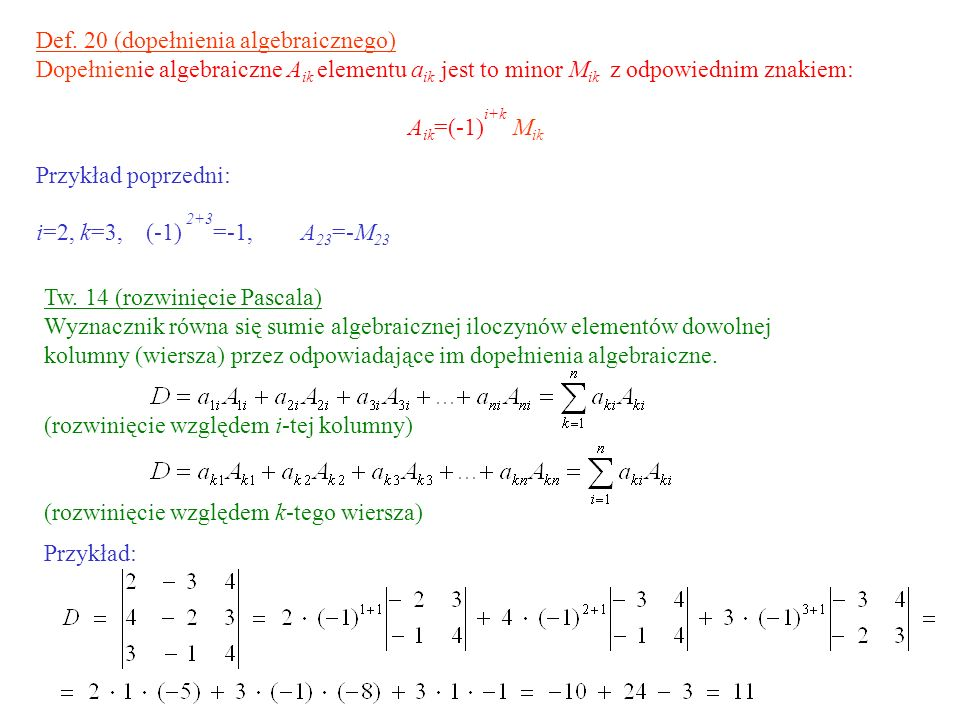 Def. 20 (dopełnienia algebraicznego)