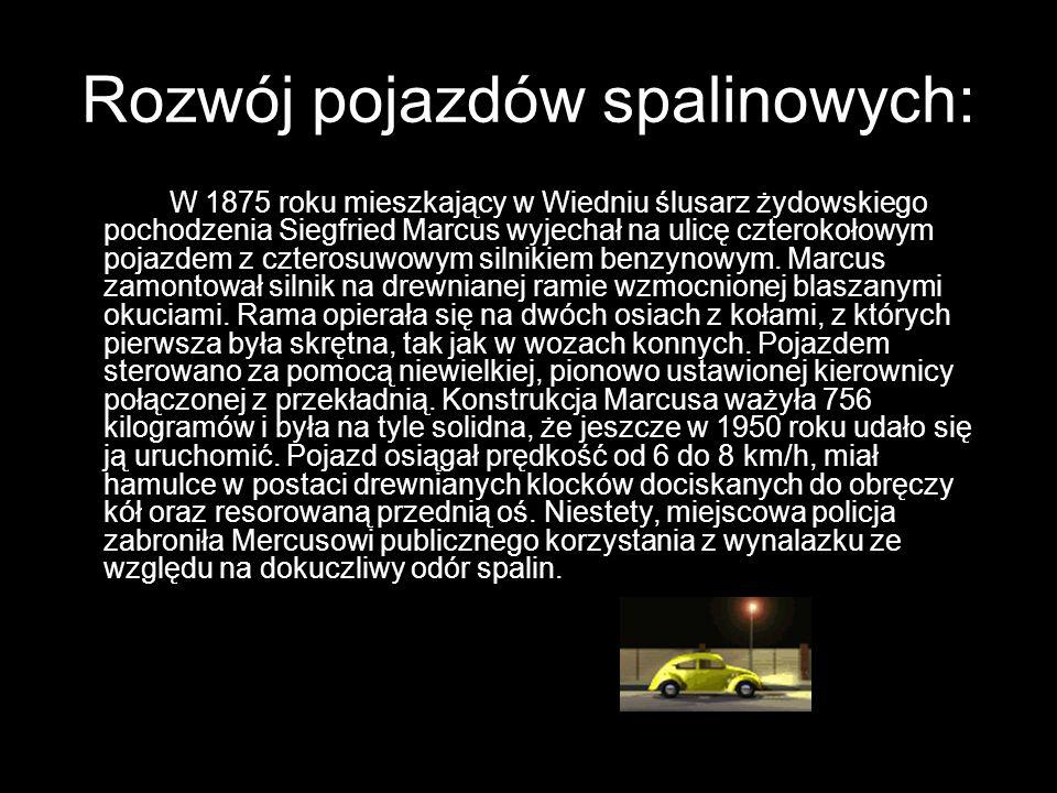 Rozwój pojazdów spalinowych: