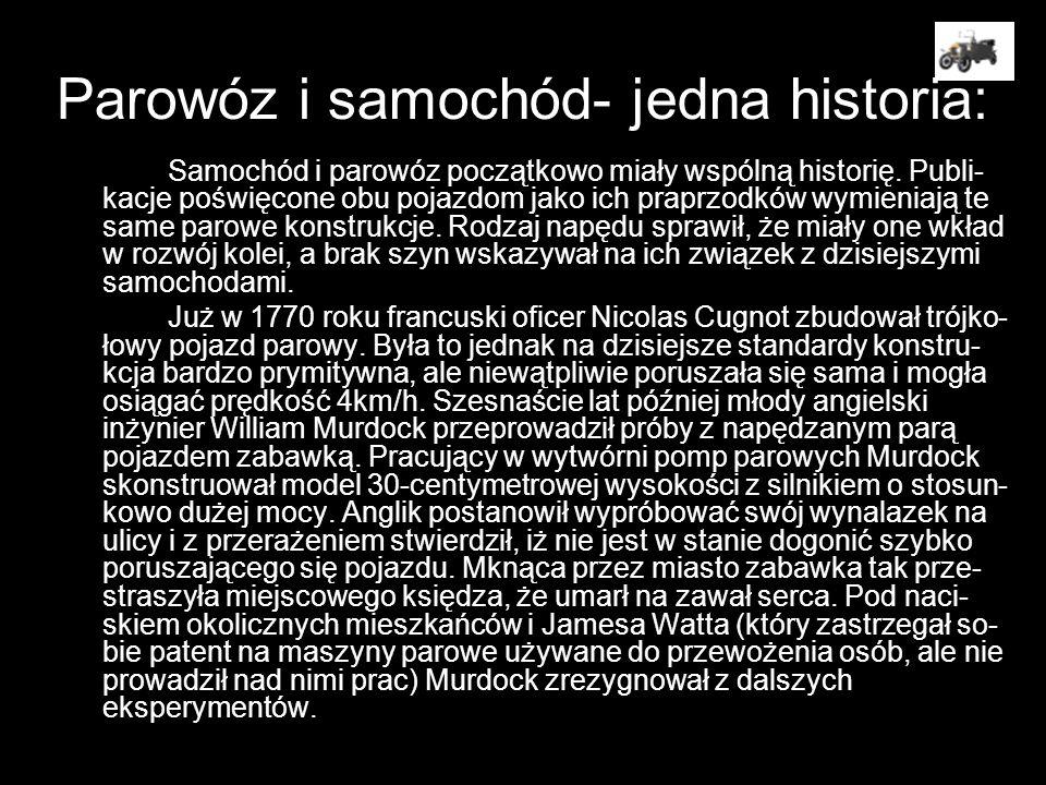 Parowóz i samochód- jedna historia: