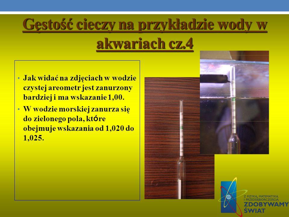 Gęstość cieczy na przykładzie wody w akwariach cz.4