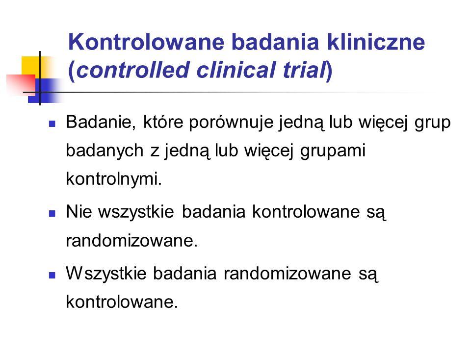 Kontrolowane badania kliniczne (controlled clinical trial)