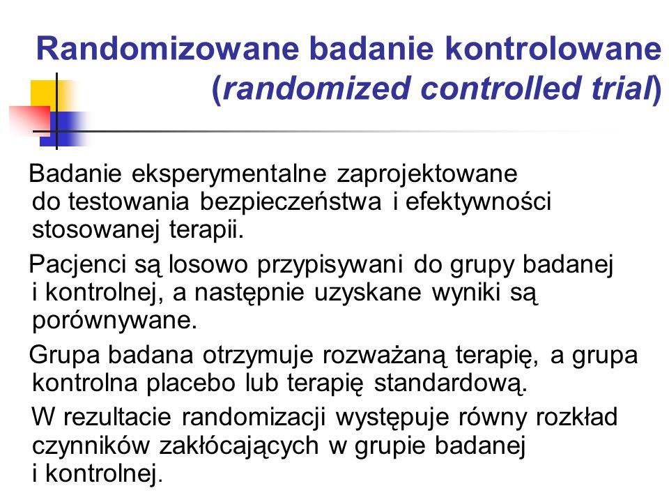 Randomizowane badanie kontrolowane (randomized controlled trial)