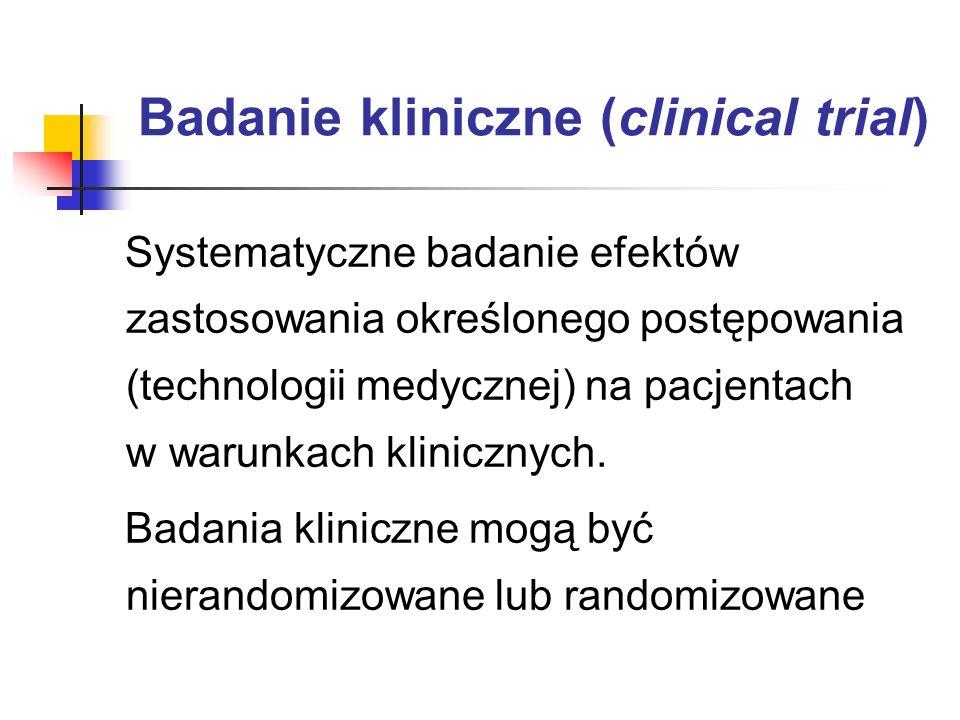 Badanie kliniczne (clinical trial)