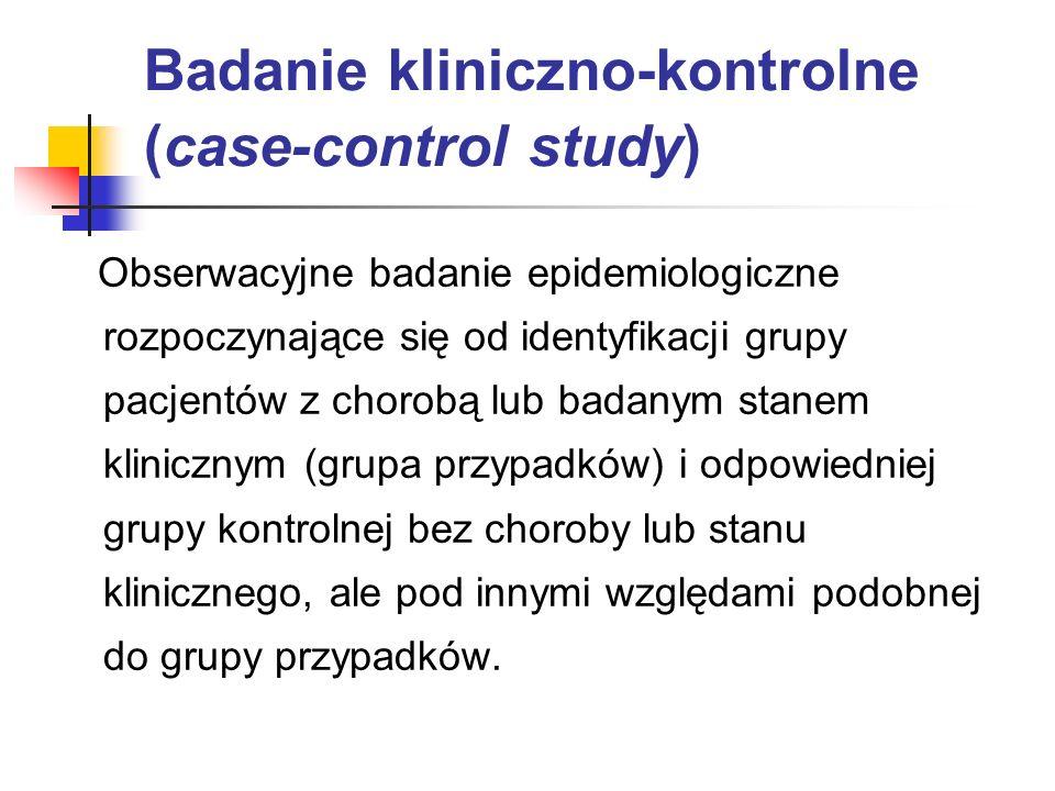 Badanie kliniczno-kontrolne (case-control study)