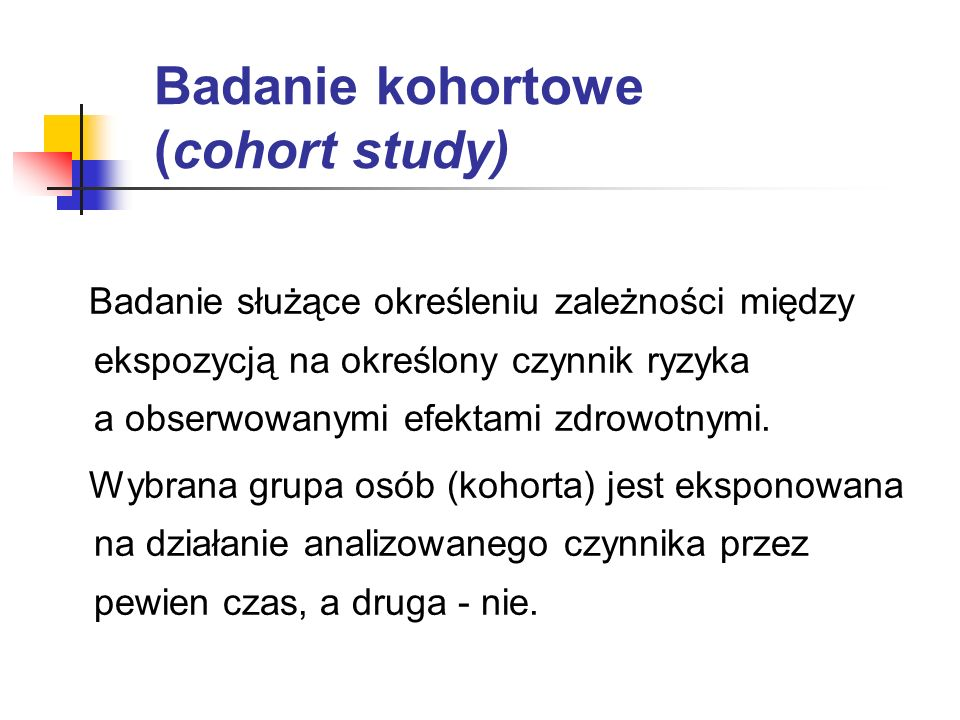 Badanie kohortowe (cohort study)