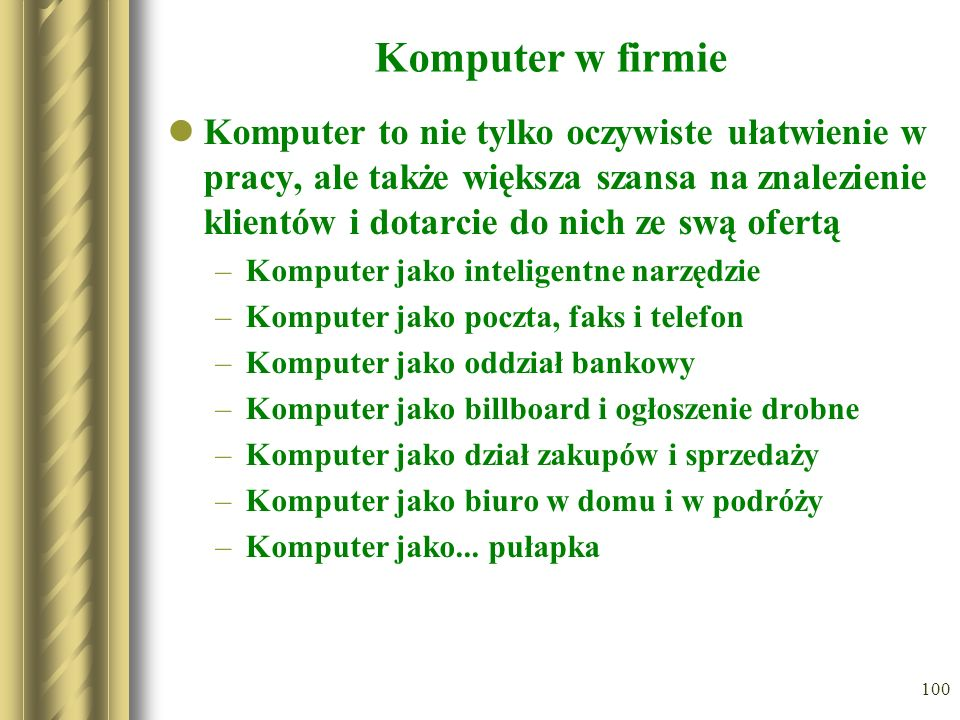 Komputer w firmie