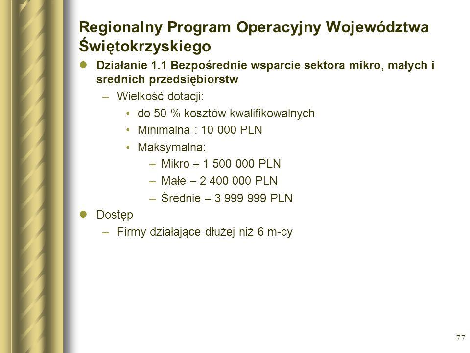 Regionalny Program Operacyjny Województwa Świętokrzyskiego