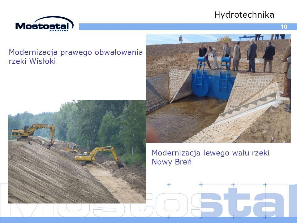 Hydrotechnika Modernizacja prawego obwałowania rzeki Wisłoki