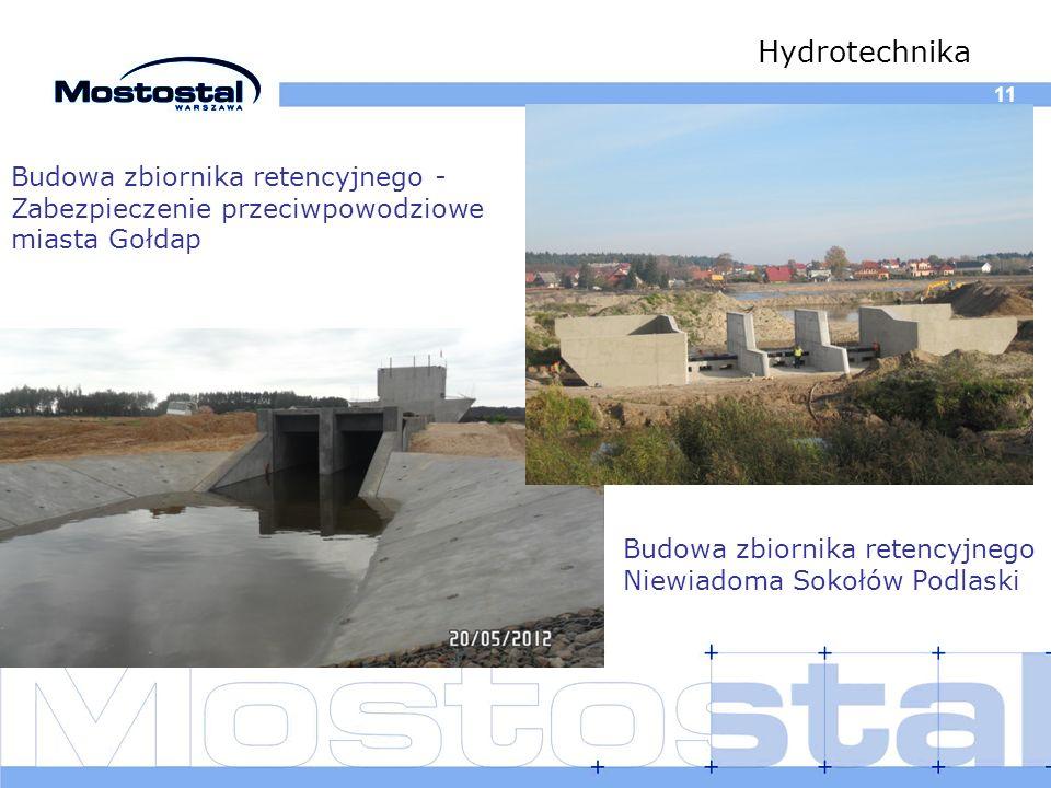 Hydrotechnika 11. Budowa zbiornika retencyjnego -Zabezpieczenie przeciwpowodziowe miasta Gołdap.