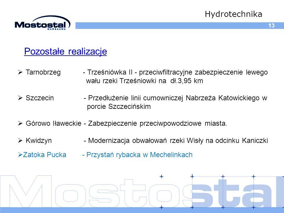 Pozostałe realizacje Hydrotechnika