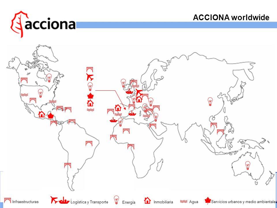 ACCIONA worldwide Infraestructuras Logística y Transporte Energía