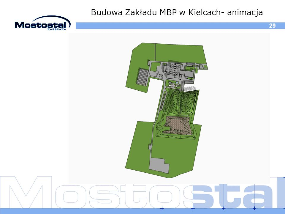 Budowa Zakładu MBP w Kielcach- animacja