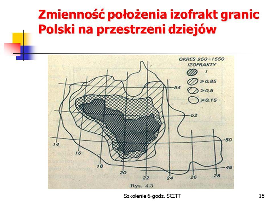 Zmienność położenia izofrakt granic Polski na przestrzeni dziejów