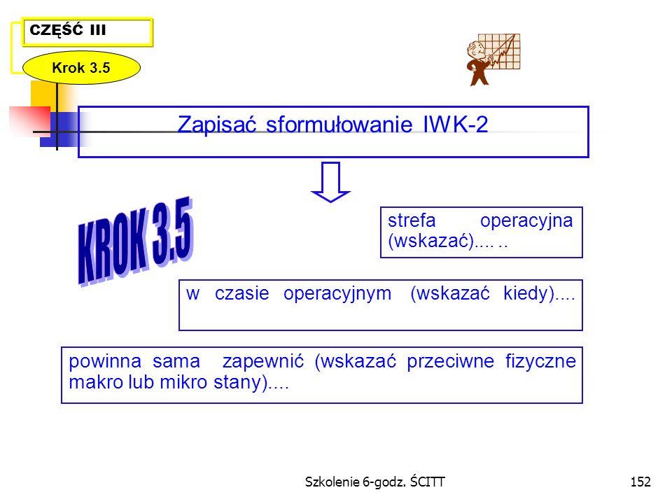 Zapisać sformułowanie IWK-2