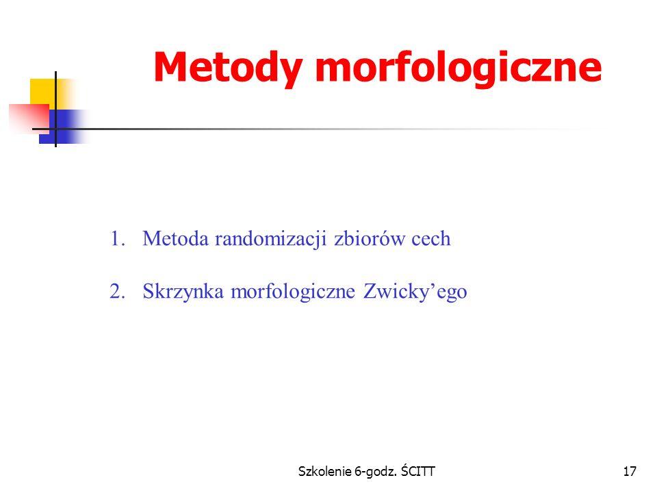 Metody morfologiczne Metoda randomizacji zbiorów cech