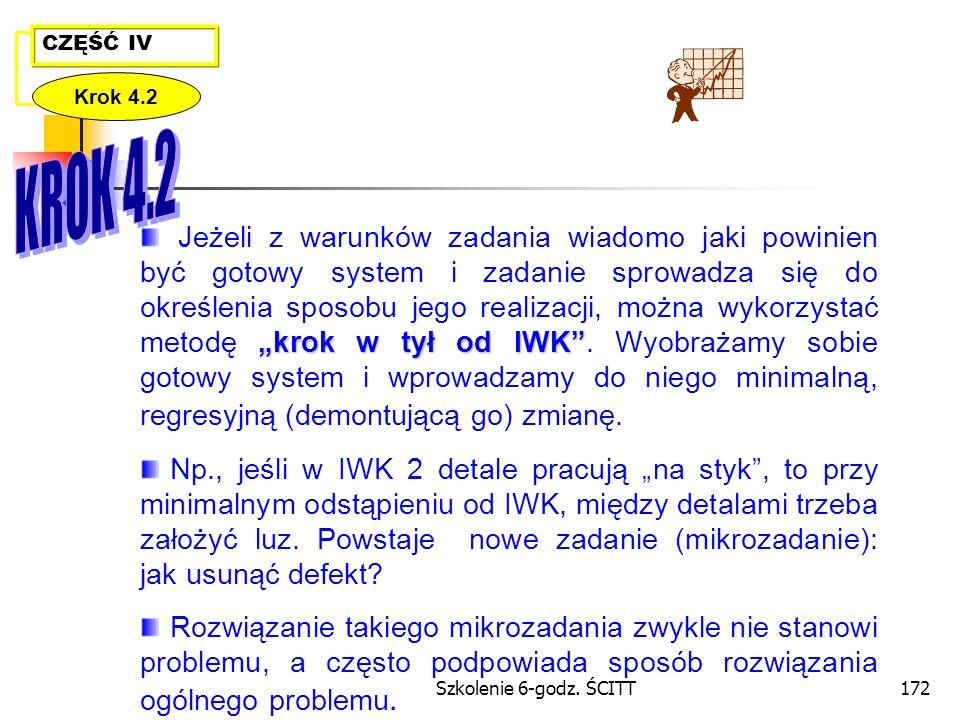 CZĘŚĆ IV Krok 4.2. KROK 4.2.
