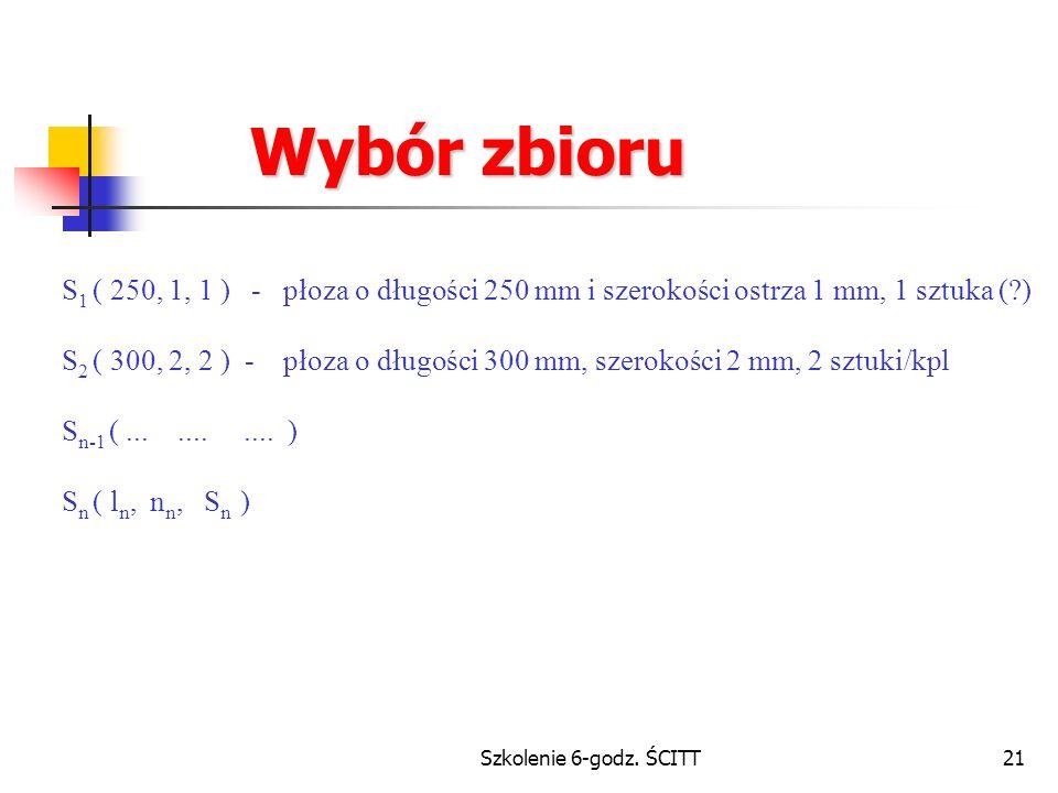 Wybór zbioru S1 ( 250, 1, 1 ) - płoza o długości 250 mm i szerokości ostrza 1 mm, 1 sztuka ( )