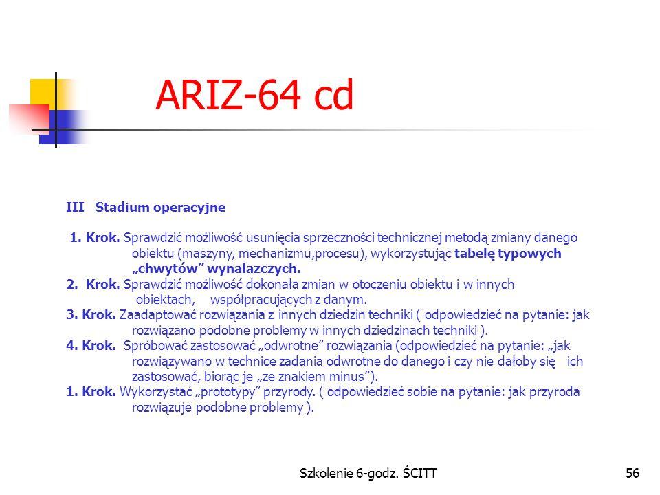 ARIZ-64 cd III Stadium operacyjne