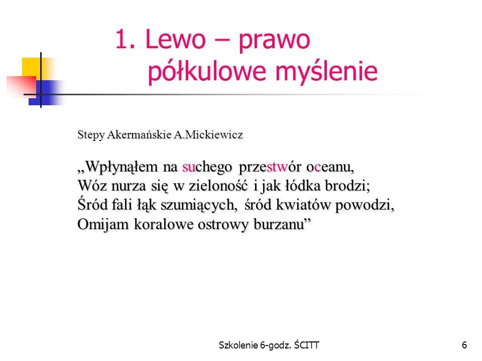 1. Lewo – prawo półkulowe myślenie