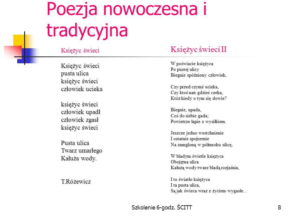 Poezja nowoczesna i tradycyjna
