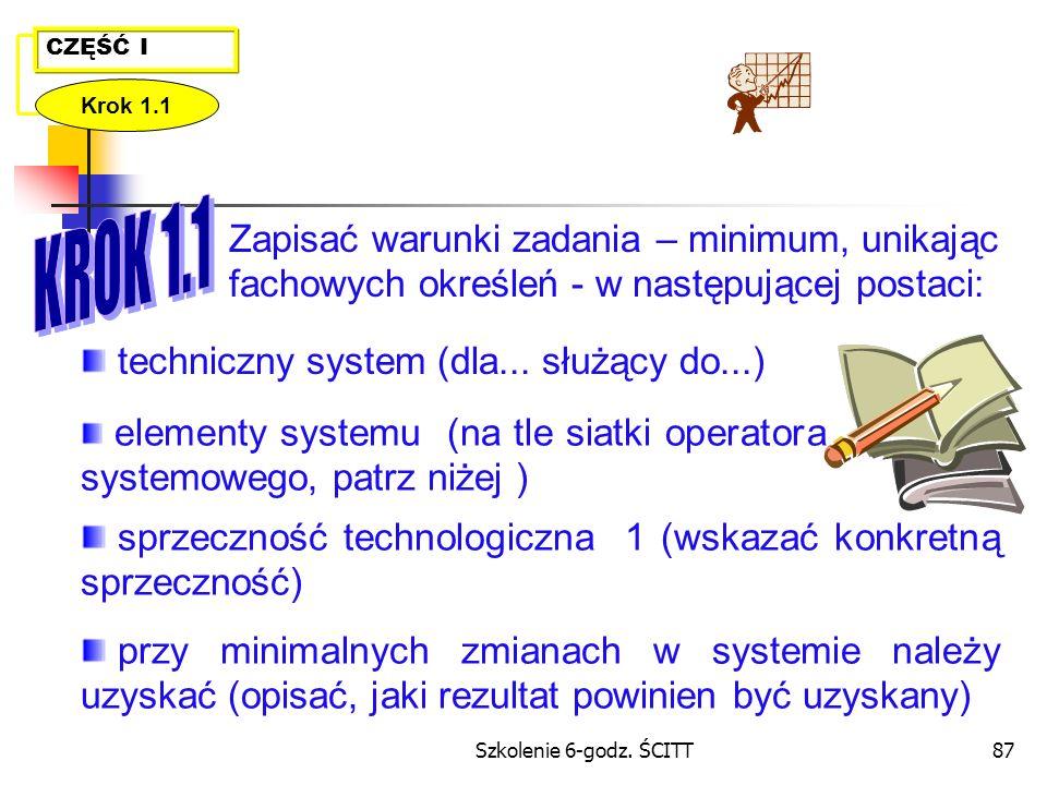 techniczny system (dla... służący do...)