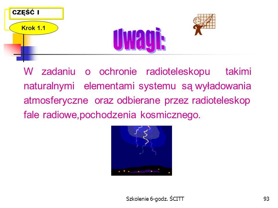 Uwagi: W zadaniu o ochronie radioteleskopu takimi
