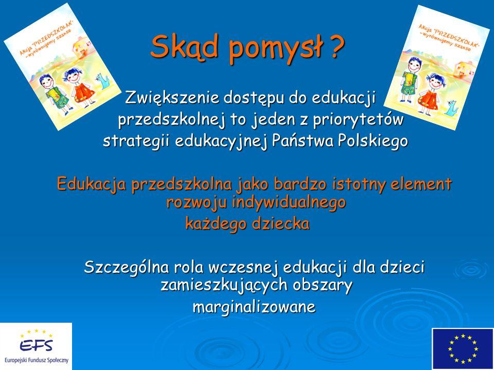 Szczególna rola wczesnej edukacji dla dzieci zamieszkujących obszary
