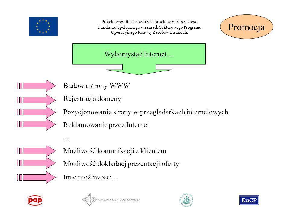 Promocja Wykorzystać Internet ... Budowa strony WWW Rejestracja domeny
