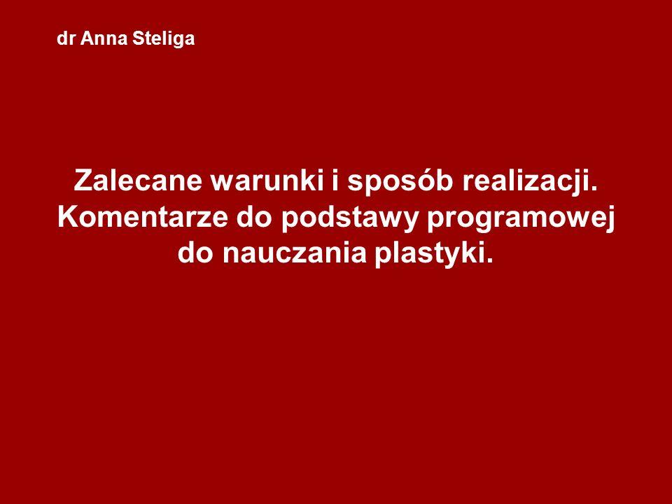 dr Anna SteligaZalecane warunki i sposób realizacji.