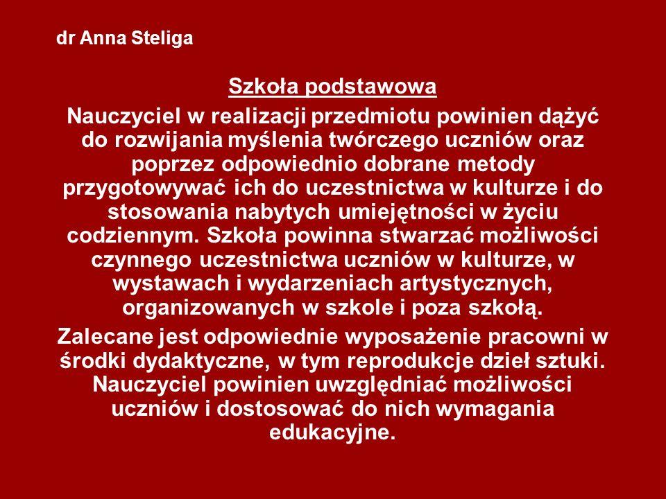 dr Anna Steliga Szkoła podstawowa.