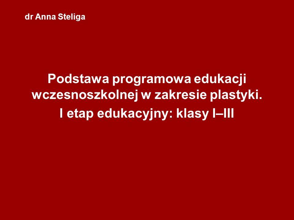 Podstawa programowa edukacji wczesnoszkolnej w zakresie plastyki.