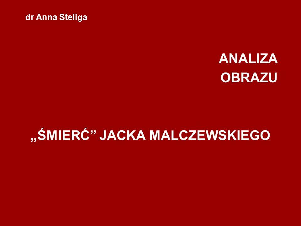 """ANALIZA OBRAZU """"ŚMIERĆ JACKA MALCZEWSKIEGO"""