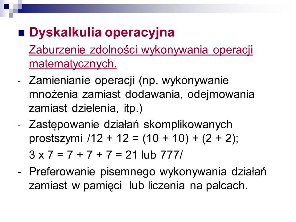 Dyskalkulia operacyjna