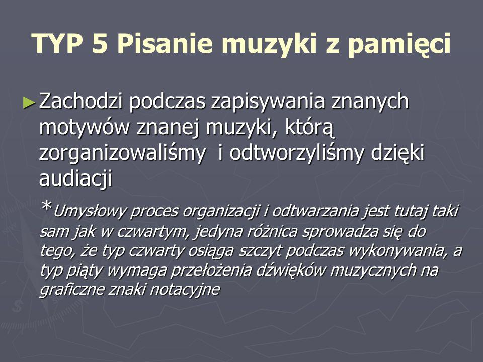TYP 5 Pisanie muzyki z pamięci