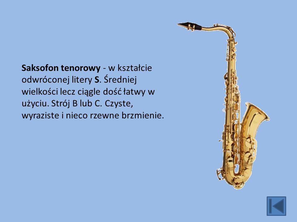 Saksofon tenorowy - w kształcie odwróconej litery S