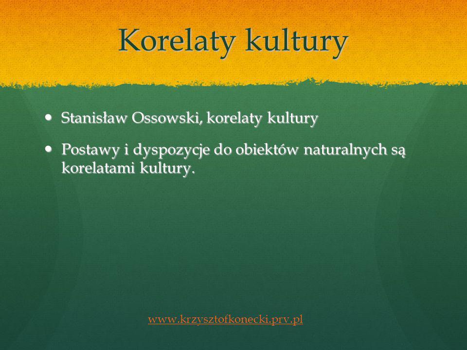 Korelaty kultury Stanisław Ossowski, korelaty kultury