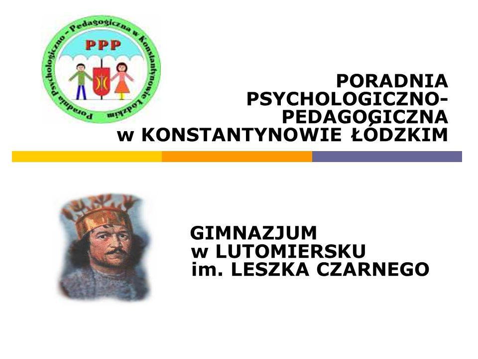 PORADNIA PSYCHOLOGICZNO- PEDAGOGICZNA w KONSTANTYNOWIE ŁÓDZKIM