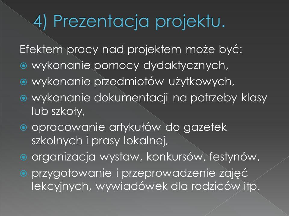 4) Prezentacja projektu.