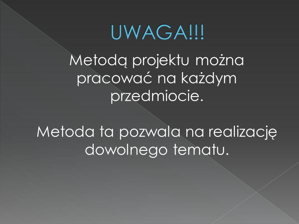 UWAGA!!! Metoda ta pozwala na realizację dowolnego tematu.