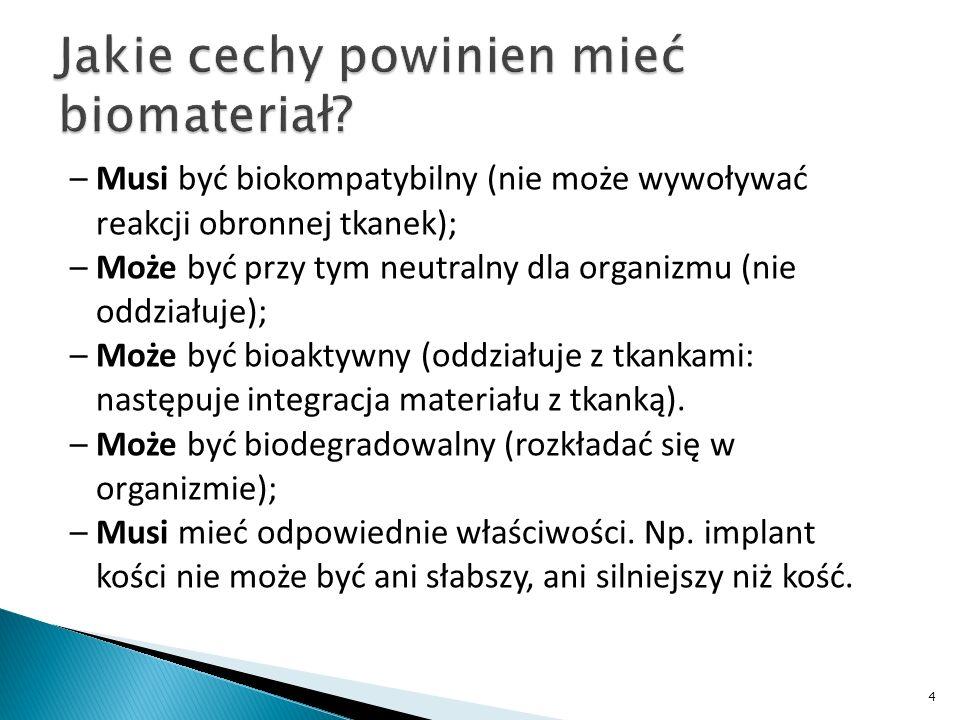Jakie cechy powinien mieć biomateriał