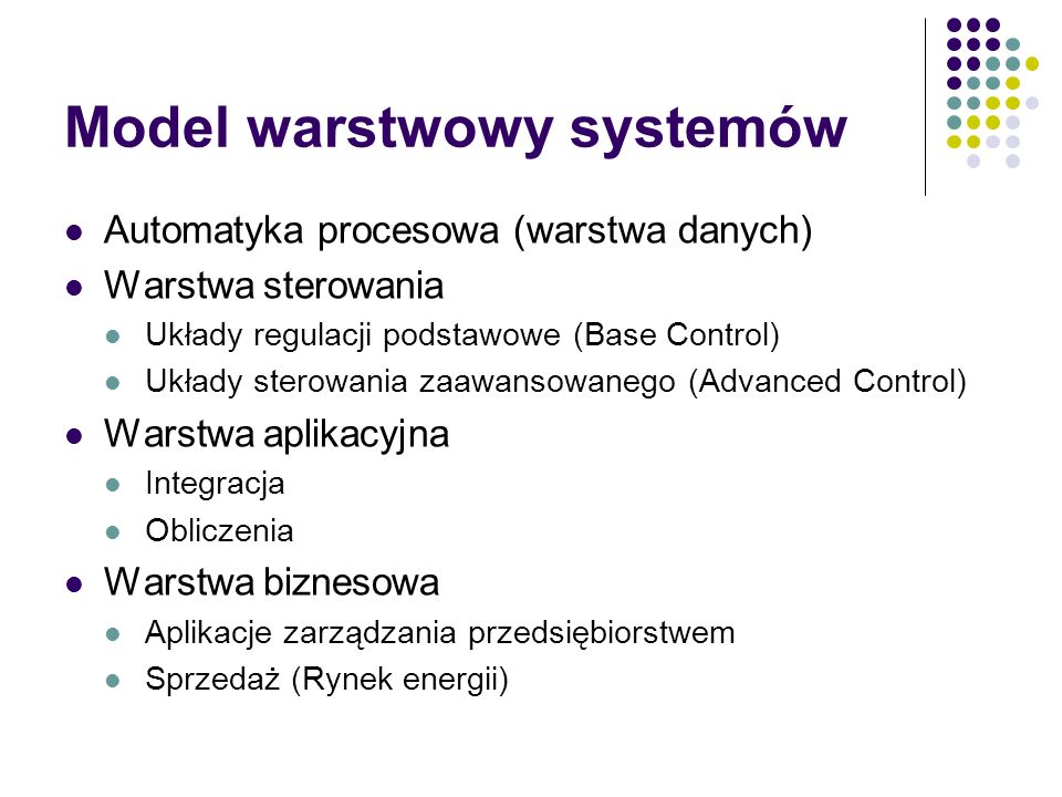 Model warstwowy systemów