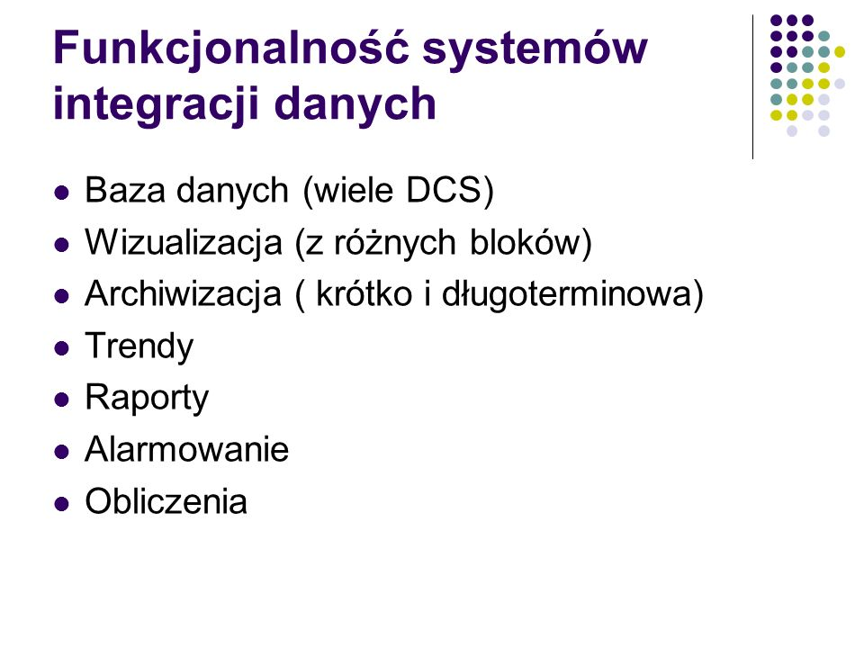 Funkcjonalność systemów integracji danych