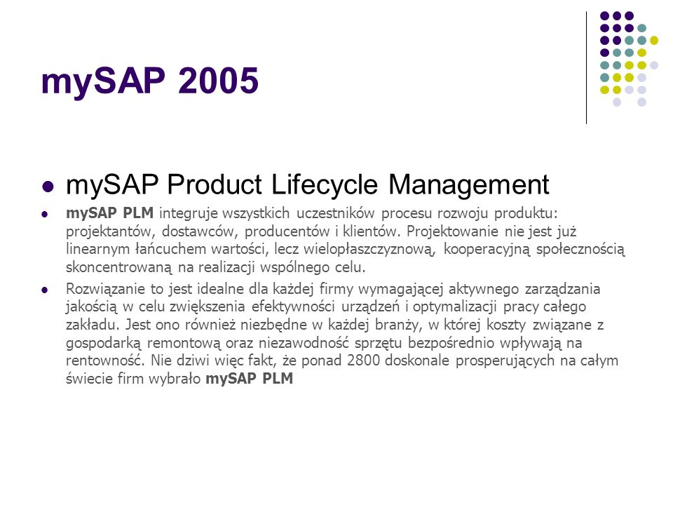mySAP 2005 mySAP Product Lifecycle Management