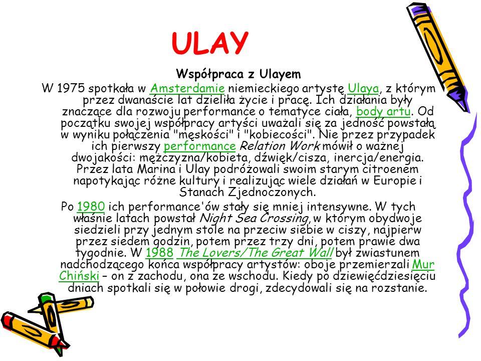 ULAY Współpraca z Ulayem