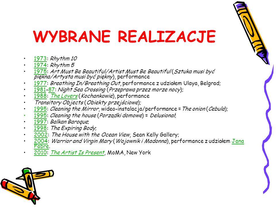 WYBRANE REALIZACJE 1973: Rhythm 10 1974: Rhythm 5