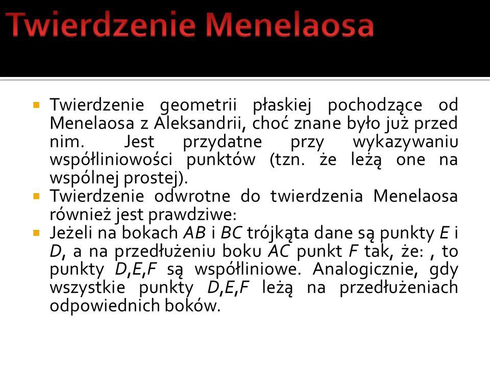 Twierdzenie Menelaosa