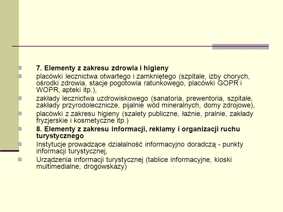 7. Elementy z zakresu zdrowia i higieny